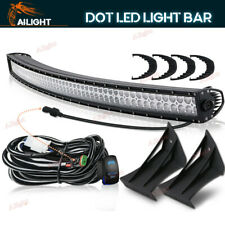 Led Light + Windshield Mount+ DT Wiring Combo For 99-15 Ford F250/350 Super Duty