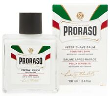 PRORASO MEN AFTER SHAVE BALM WHITE Balsam Sensitive Skin Green Tea Box 100ml