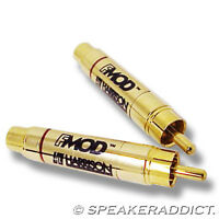 2 Harrison Labs FMOD -6dB audio attenuator rca in line level reducer (1 pair)