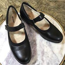 FootSmart Sz 6.5 M Black Leather Mary Jane Loafer Flats Comfort Career Shoes