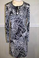 TAHARI womne's black and white pattern dress size S (dr200)