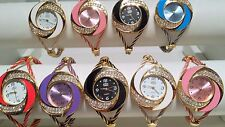 Joblot of 18 Mixed colour Wire Cable Diamante Watches new wholesale - lot S