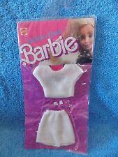 Vintage 1988 * Barbie * Fashion Finds * White Top & Skirt * NRFP