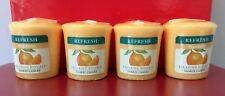 Yankee Candle Relaxing Rituals CALM Mandarni Scented Votive Lot of 4 +Free Ship