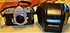 EXCELLENT NIKON NIKKORMAT FTN SLR Film Camera BODY & Black Leather Case