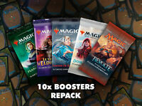 Magic MTG - 10x Boosters Repack (10 Communes + 4 Unco + 1 Rare/Mythic)