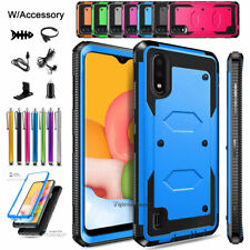 For Samsung Galaxy A01 Case, Heavy Duty Shockproof Protective Cover +Accessories