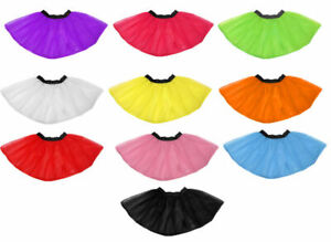 Ladies 2 Layer TuTu Skirt Fancy Dress 1980's Hen Party One Size fit 8-14