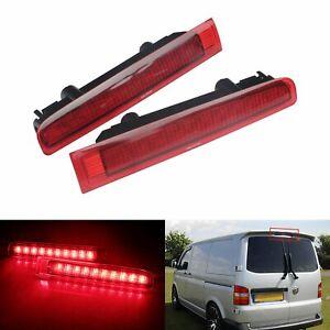 2x Red LED Rear 3rd High Level Stop Brake Lights Fit VW Transporter T5 T6 2003+