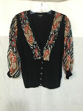 GORGEOUS ARTSY BUTTON FRONT KNIT TIOP by YUKA PARIS size T3 ~ Small 2-4 US