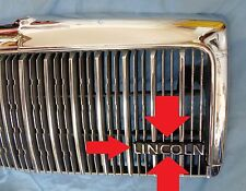 Original Factory 90-97 Town Car CHROME Grille Insert LINCOLN Emblem Nameplate
