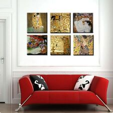 "TIME4ART GUSTAV KLIMT CANVAS MOTHER & CHILD PRINT GICLEE SET 6 PCS 16""x16""in ART"