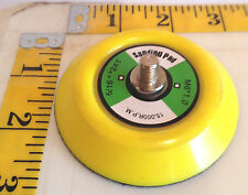 """Velcro® backed 3 in sanding or polishing pad disc with 5/16""""-24 TPI"""