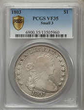 1803 $1 Small 3 Draped Bust Dollar PCGS Secure VF 35