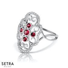 Vintage Couture Diamond & Ruby 14k Gold