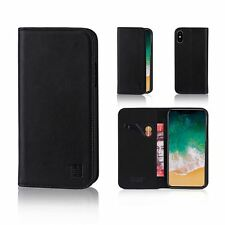 32nd Classic Series - Real Leather Book Wallet Case Cover For Apple iPhone X