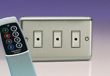 Varilight 3-Gang 1-Way Remote/Tactile Touch Control Master LED Dimmer Light Swit