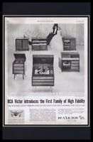 1955 RCA Victor Phonograph Framed 11x17 ORIGINAL Vintage Advertising Poster