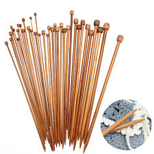 36Pcs/ lot 18Sizes 35cm Smooth Carbonized Bamboo Single Pointed Knitting Needles
