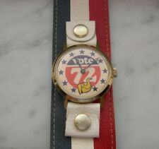 VOTE 72 VINTAGE WIND UP WATCH WITH ORIGINAL RED WHITE AND BLUE BAND/ WORKING