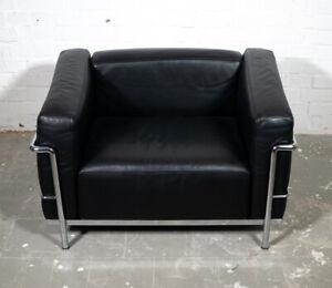 Cassina LeCorbusier LC3 Leder Sessel schwarz Designklassiker Le Corbusier #1119