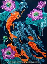 Chinese Folk Art Painting - Chinese Peasant Painting - Lotus & Fish