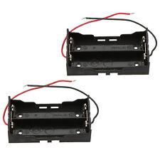 2 piece battery storage box case holder for 2 x 18650 parallel lithium batt Q4J1