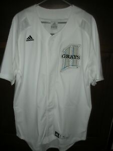 NEW ADIDAS BASEBALL JERSEY WITH  HOMESTEAD GRAYS PATCH SEWN ON, MEN'S XL