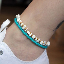 4Pcs/Lot Colorful Beads Rope Friendship Anklet Set For Woman Cotton Anklets