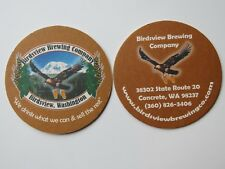 Beer Coaster ~ BIRDSVIEW Brewing Co ~ WASHINGTON State ~ Eagle with Pints Flying