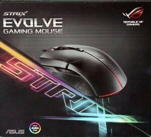 Asus ROG Strix Evolve Mouse Ottico Gaming, 7200 DPI, Aura Sync RGB Quattro Stili