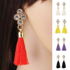 EG_ Fashion Women Rhinestones Long Tassel Charm Jewelry Wedding Earrings Gift La