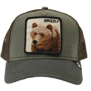 GOORIN BROS Trucker Cap Baseball Cap GRIZZLY BEAR One Size RRP £35 Khaki / brown