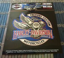 Authentic -Harley Davidson Decal DC142933 HD Factory Custom Engine with Wings