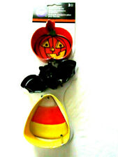 Halloween Wilton 3 pc Jack-O-Lantern, Bat and Candy Corn Cookie Cutter Set New