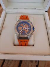 Franck Dubarry Intrepidus Rider Blue Orange Chronograph Quartz 43 mm PU REV0108
