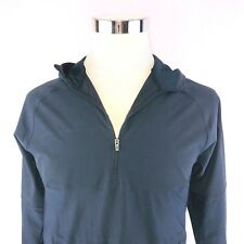 Under Armor Slim Fitted Black Dry Fit Stretch Hooded Training Top Mens Medium