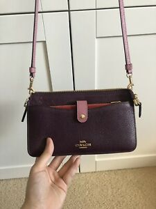 COACH small Colour Block Crossbody BAG as New