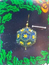 Vintage Distasio DARK BLUE GOLD STAR Boutique Christmas Ornament Craft Kit Beads