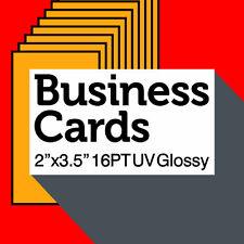 500 COLOR FREE Professional Designer CUSTOM BUSINESS CARDS Thick 16PT Glossy UV