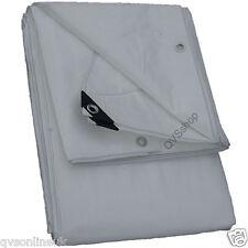 4m X 25m White Heavy Duty 200gsm Tarpaulin Cover Sheet Tarp With Eyelets