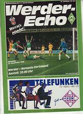 BL 88/89 SV Werder Bremen - Borussia Dortmund