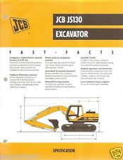 Equipment Brochure - JCB - JS130 - Excavator - 1999 (EB391)