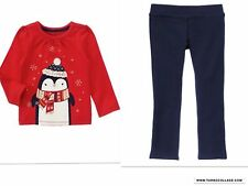 GYMBOREE HOLIDAY SHOP PENGUIN TOP WITH PONTE PANTS NWT SIZE 4T