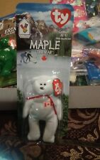 Maple The Bear Ty Teenie Beanie Baby 1996 Mcdonalds Charity Tag Errors Rare