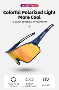 ROCKBROS Cycling Glasses MTB Road Bike Polarized Sunglasses UV400 Protection