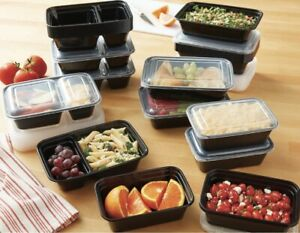 Mainstays Meal prep 35 pack food storage containers BPA Free Divided & Undivided