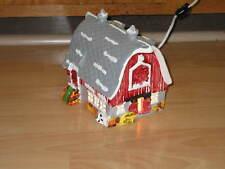 Dept 56 Snow Village Christmas Barn #50741 lighted, red In original box!