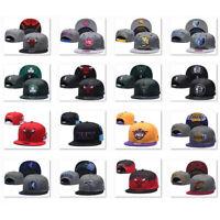 New Embroidered All Teams Logo Basketball Hat Flat Brim Adjustable Snapback Cap