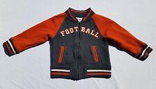 Boys Gymboree Jacket  Size 2T 3T  Junior Linebacker Coat Football Orange